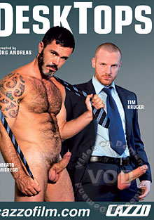 Suited hairy faced men get dirty and hot